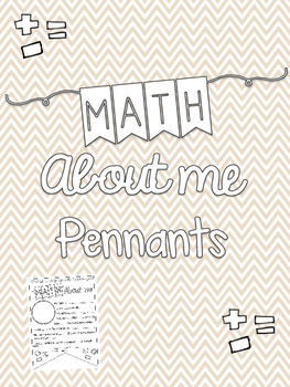 Math About Me Pennant (Primary Grades)