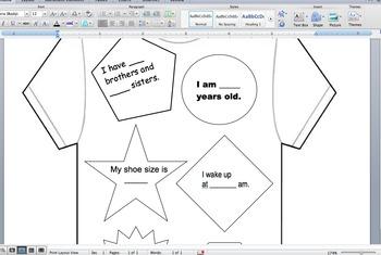 Math About Me T-Shirt Design