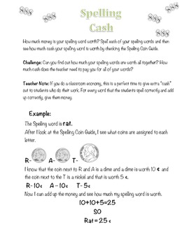 Math Activities Using Spelling