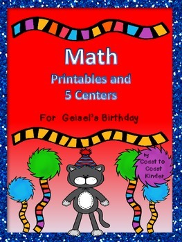 Math Activities and 5 Centers Themed for Theodor Geisel