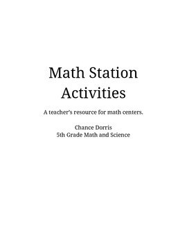 Math Activities for Upper Elementary