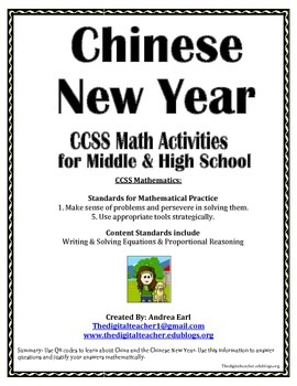 Math Activities for the Chinese New Year