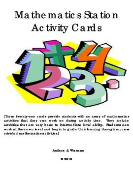 Math Activity Cards