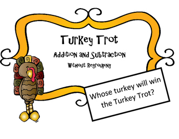 Thanksgiving Math Activity  Add and Sub Word Problems w/ r