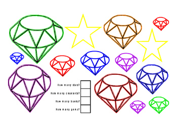 FREEBIE Math Addition How Many Color Fine Motor Stars Cres