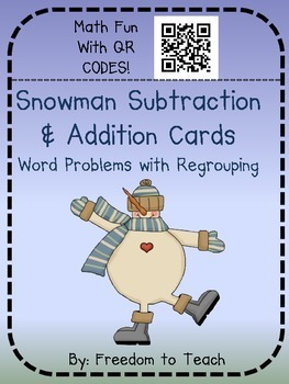 Math Addition & Subtraction Word Problems W/ QR CODES!! Wi