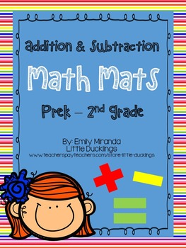 Math - Additon & Subtraction Mats (Generic, to be used for