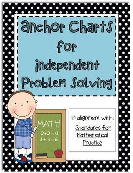 Math Anchor Charts for Independent Problem Solving  (Black