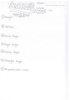 Math Angles Worksheet