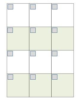 Math Answer Sheets 2 and 3 Column