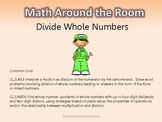 Math Around the Room- Dividing Whole Numbers