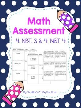 Math Assessment 4. NBT. 3 & 4. NBT.4