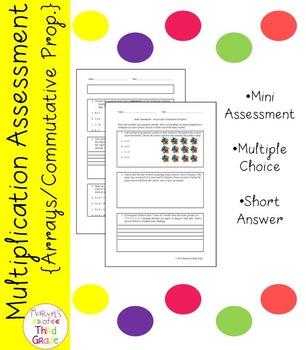 Multiplication Assessment - Arrays and Commutative Property