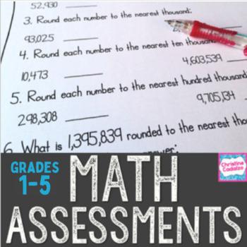 Math Assessments Bundle