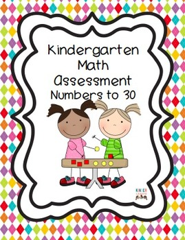 Kindergarten Math Assessment Numbers to 30