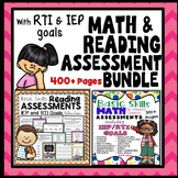 Math Assessment: and Reading Assessment: Bundle {Printables}
