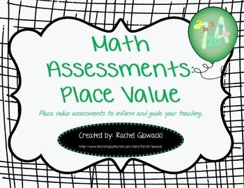 Math Assessments: Place Value