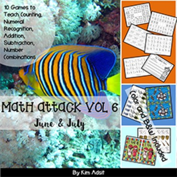 Number: Math Attack! Vol 6, June and July - Aligned with t