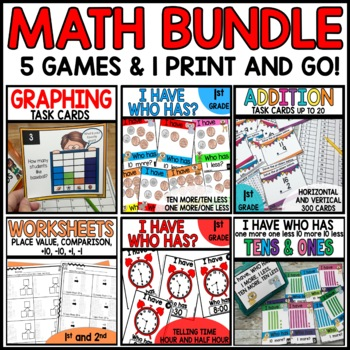 Math BUNDLE 1st Grade