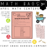 Math Bags for 1st Grade: Spring Version! (10 Spring Themed