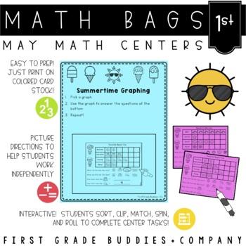 Math Bags for 1st Grade: Summer Version! (10 Summer Themed