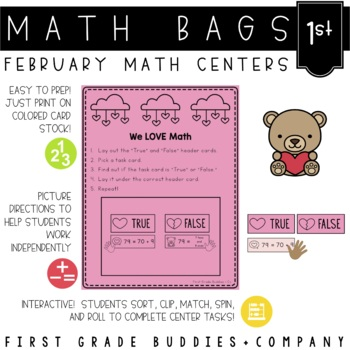 Math Bags for 1st Grade: Valentine's Day Version! (10 Math