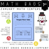Math Bags for 1st Grade: Winter Version! (10 Winter Themed