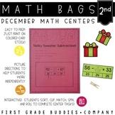 Math Bags for 2nd Grade: Christmas Version! (10 Christmas