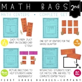 Math Bags for 2nd Grade THE COMPLETE SET (40  Common Core