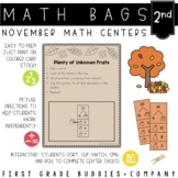 Math Bags for 2nd Grade: Thanksgiving Version! (10 Thanksg