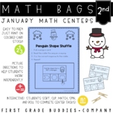 Math Bags for 2nd Grade: Winter Version! (10 Winter Themed