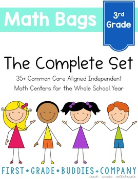 Math Bags for 3rd Grade THE COMPLETE SET (40 Common Core A