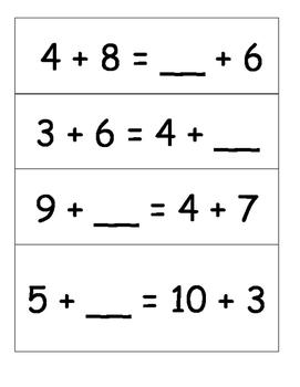 Math Balance Task Cards