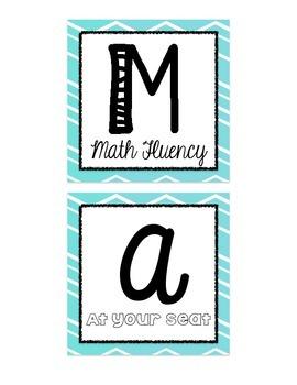 Math Bin Labels