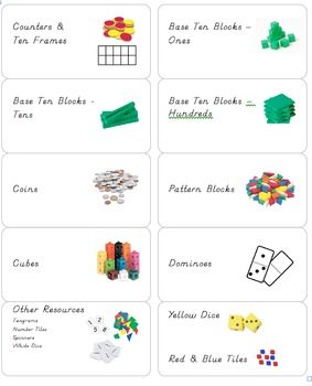 Math Bin Labels Editable