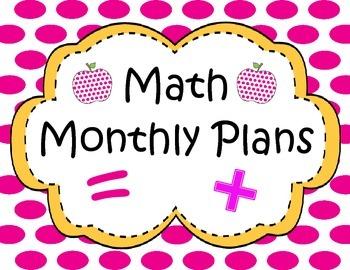 Math Binder Cover Polka Dots Pink