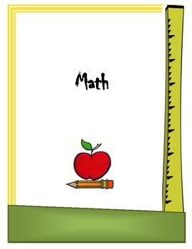 Math Binder Cover Sheet