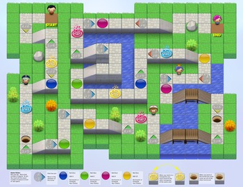 Math Board Game 2 from Johnnie's Math Page