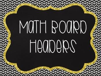 Math Board Headers