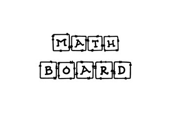 Math Board Plans