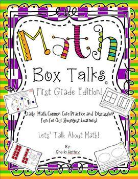 Math Box Talks ~ First Grade Edition!  CCSS Math Fun for o