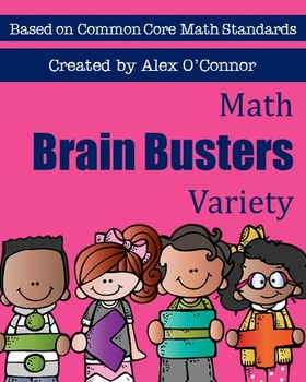 Math Brain Busters Variety Set - Math Problems for the Upp