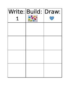 Math: Build, Write, Draw Mat