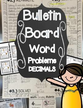 Math Bulletin Board WORD PROBLEMS: Decimals!