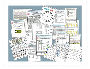 Math Bundle Grade 2- Interactive Notebook Printables and P