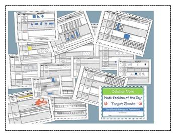 Math Bundle Grade 3- Interactive Notebook Printables and P