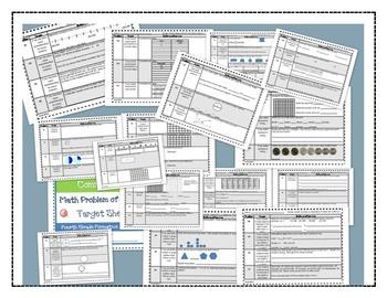 Math Bundle Grade 4-Interactive Notebook Printables and Pr