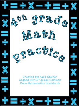 Math Bundle Worksheets & Activities: 4th grade
