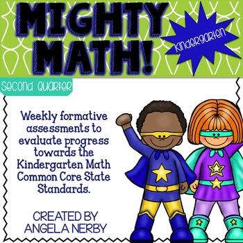 Math CCSS Assessments - KINDERGARTEN- Third Quarter