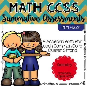 Math CCSS Summative Assessments - THIRD GRADE - Geometry